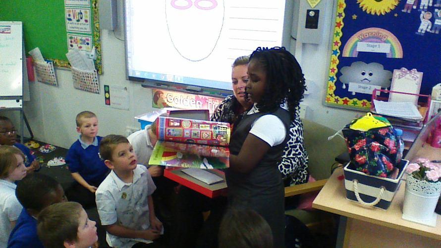 Rachel shared a occupations book.