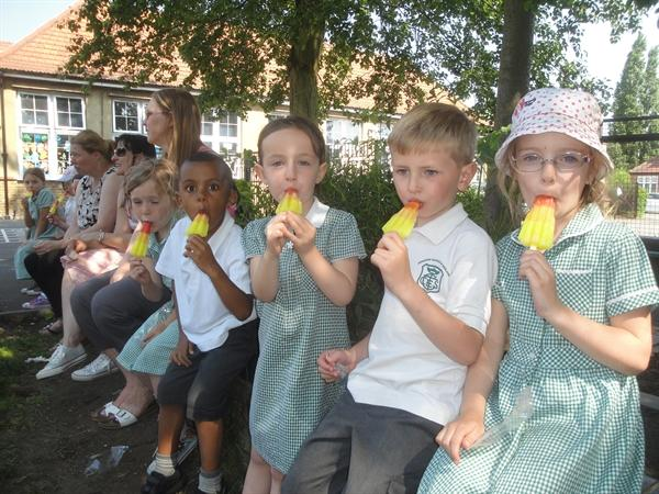 Lolly time, yum, yum!