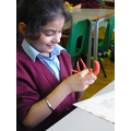 Simar working on a gecko sculpture