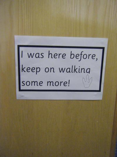 Keep on walking...