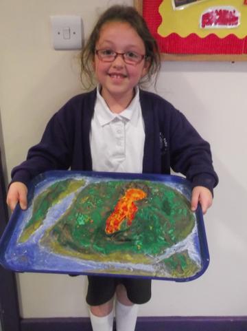 Look at Phoebe's fantastic volcano!