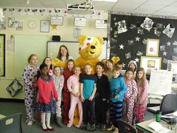 Pudsey gets a lovely welcome