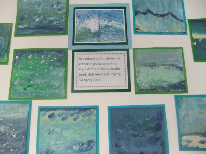 Seascape images based on the book Gregory Cool