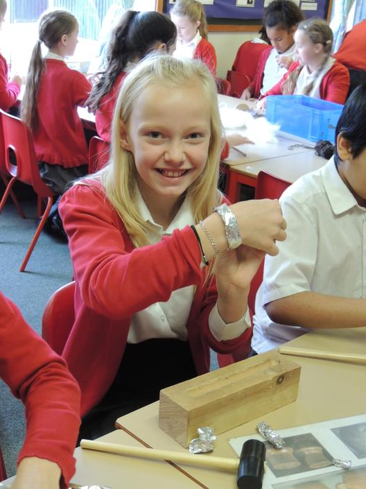 ...to create 'hack silver' bangles.