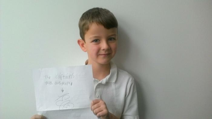 Benjamin - Got the Cherries' Captain's signature!
