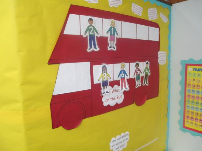 We use the Bus to help us count.