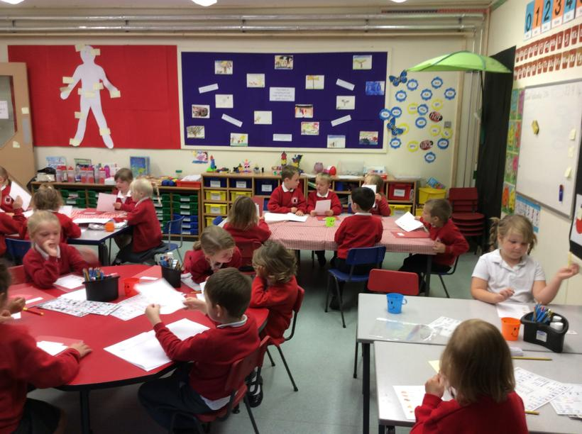 In Maths we counted to ten in French.