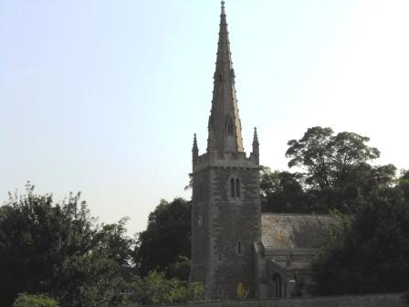View of St Nicholas Church from the playground