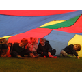 We made a tent out of the parachute