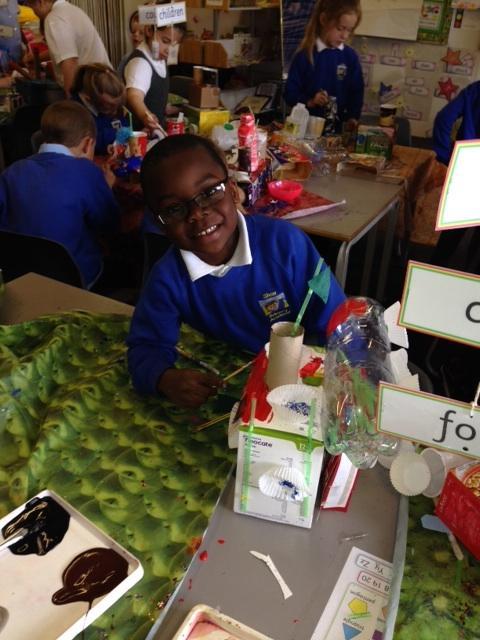 Emmanuel loved making his boat!