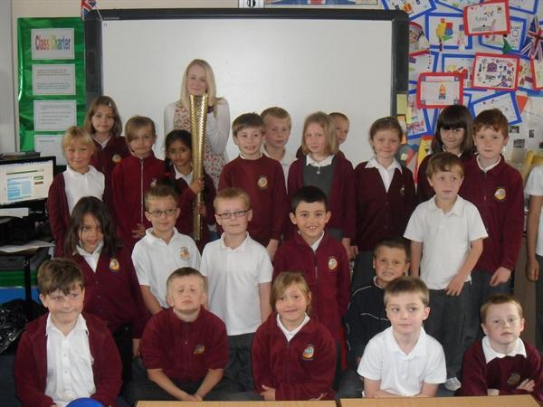 Mrs Dewick's class meet Lucy Davies