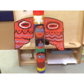 Reception children created a Totem Pole.