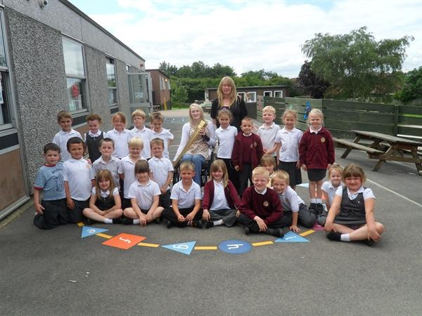 Mrs Thompson's class meet Olympic Torchbearer
