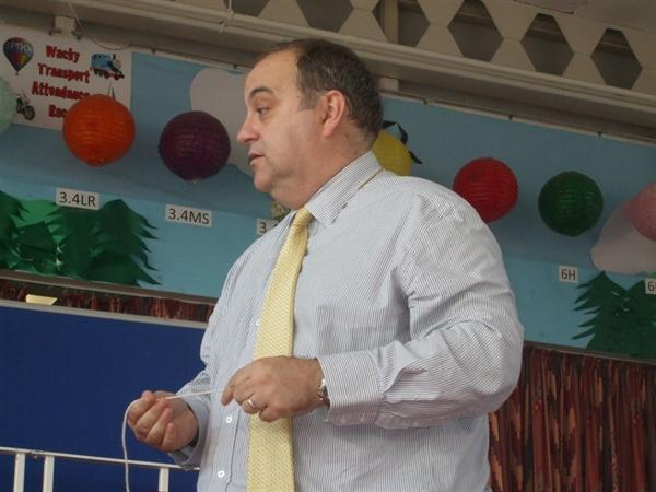 Our head teacher, Mr Jackson-Read.