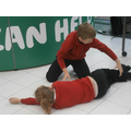 Practising the recovery position