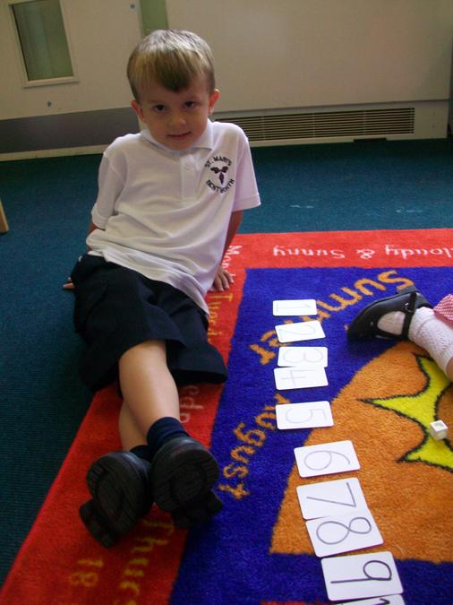 A super job, writing and ordering number cards!