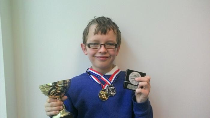 Dylan - Swimming awards