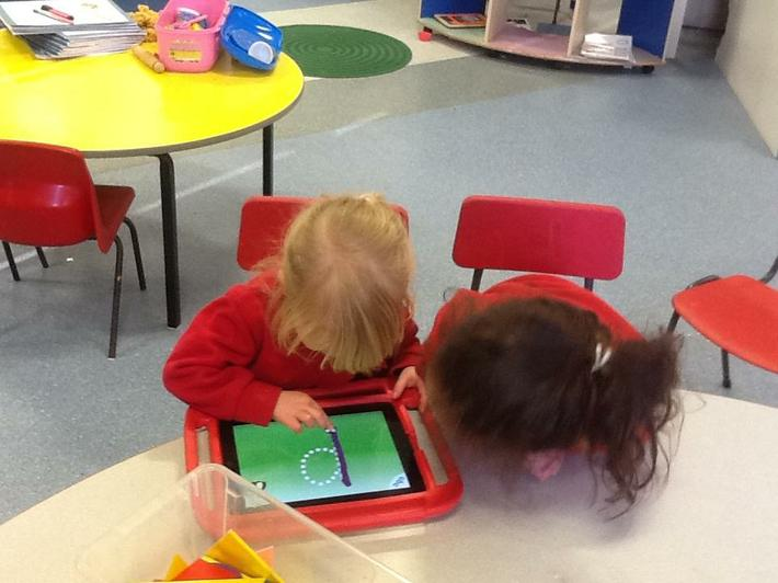 We have used ipads to help us with our letters.