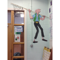The BFG takes pride of place outside our classroom