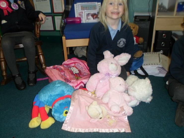 Lots of lovely soft toys.