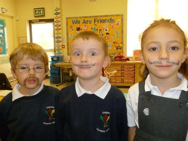 We were very proud of our Movember moustaches