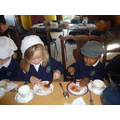 Making our Victorian Snack