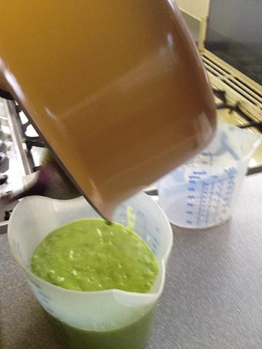 Making pea soup