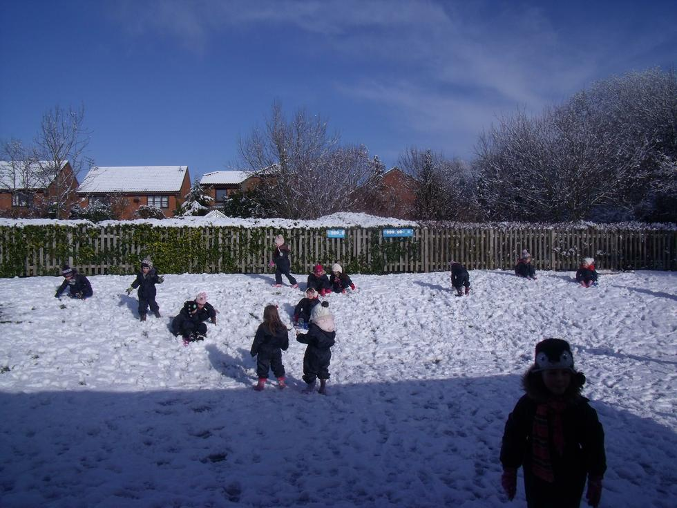 Snow play in our wetplay suits