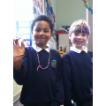 We plaited our own head bands