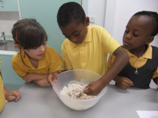 Making German Bread in our new DT room