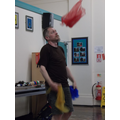 Juggling with scarves