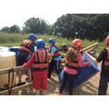 Raft building and zip wire.
