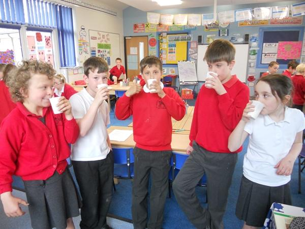 We made our own Indian Banana Lassi!