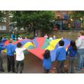 Parachute games - Health Week 2010