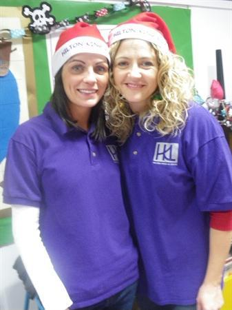 Mrs Prieg and assistant!