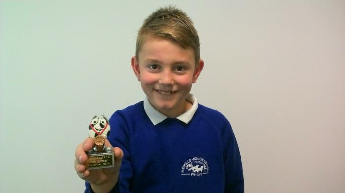 Jay - Denmead FC soccer competion winner!