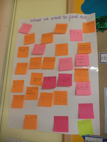 Questions to focus our learning