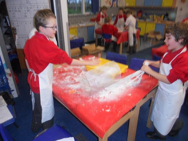 We made our own volcanoes!