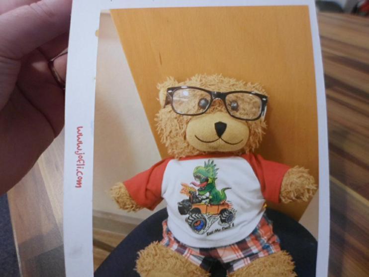 Jofli in his new glasses.