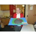 Emily's 3D model of a volcano