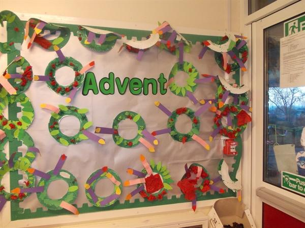 Our Advent display