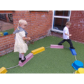 Practising our balancing skills...don't fall off!