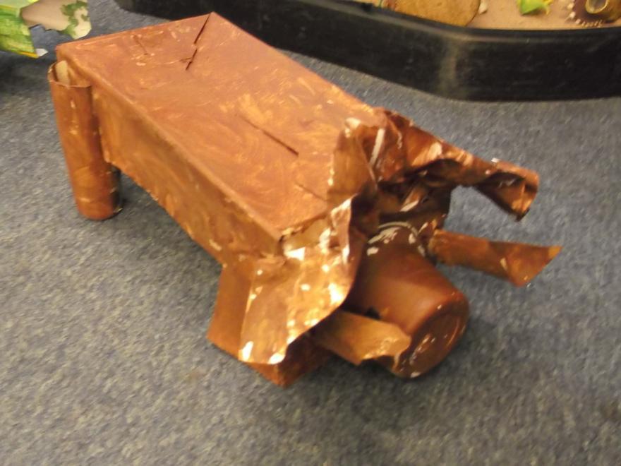 We junk modelled dinosaurs!