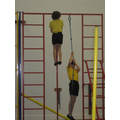Climbing rope and pole