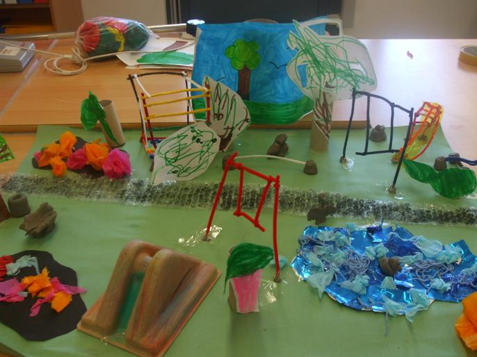KS4 class worked together to create the town park