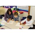 Brandon helped children with Mrs Virdi