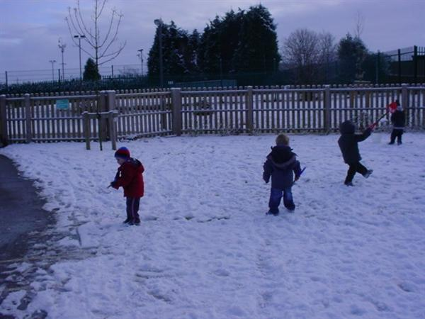 We enjoyed playing in the snow