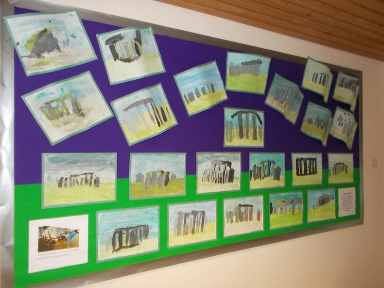 Learning about history through art in Year 3.