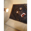 The scary gargoyle in the ceiling