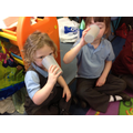We warmed up with yummy hot chocolate!
